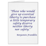 Those who would give up essential liberty... card
