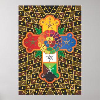 'Thoth Tarot' Rose Cross Lamen Print