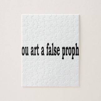 Thou Art A False Prophet Jigsaw Puzzle