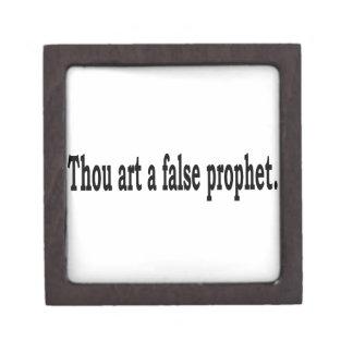 Thou Art A False Prophet Keepsake Box