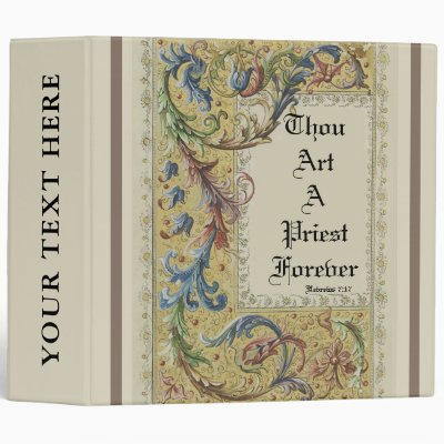 THOU ART A PRIEST FOREVER 3 RING BINDER