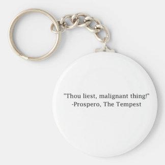 Thou Liest! Keychain