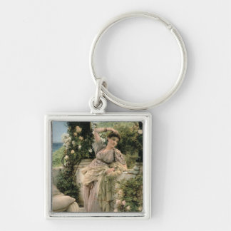 'Thou Rose of All the Roses', 1885 (oil on panel) Keychain