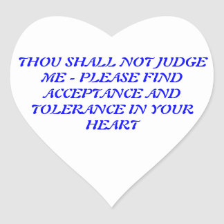 THOU SHALL NOT JUDGE ME STICKERS