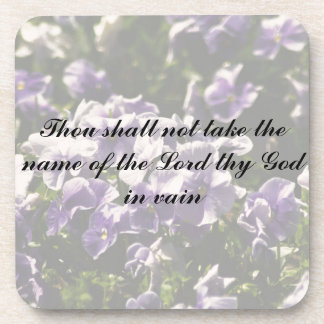 Thou Shall Not Take Name of God in Vain Coasters