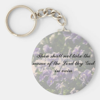 Thou Shall Not Take Name of God in Vain Key Chain