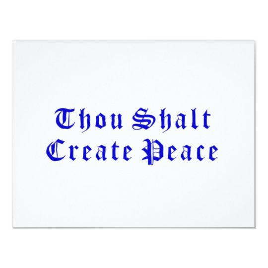 Thou Shalt Create Peace Card