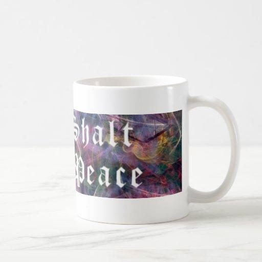 Thou Shalt Create Peace Coffee Mugs
