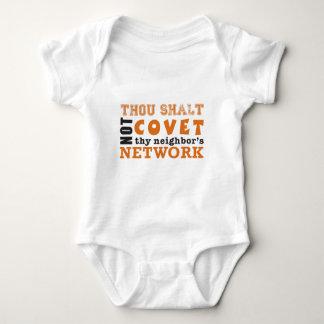 Thou Shalt Not Covet Thy Neighbor's Network Baby Bodysuit