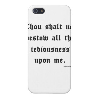 Thou shalt not... iPhone 5 cases