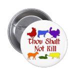 Thou Shalt Not Kill 2 Inch Round Button
