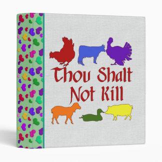 Thou Shalt Not Kill 3 Ring Binder