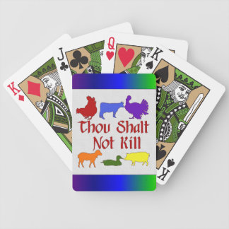 Thou Shalt Not Kill Bicycle Playing Cards