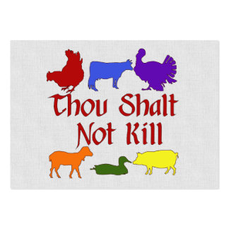 Thou Shalt Not Kill Large Business Cards (Pack Of 100)