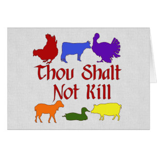 Thou Shalt Not Kill Card