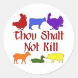 Thou Shalt Not Kill Classic Round Sticker