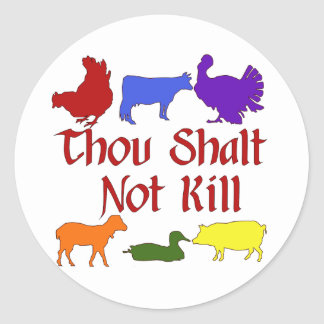 Thou Shalt Not Kill Classic Round Sticker