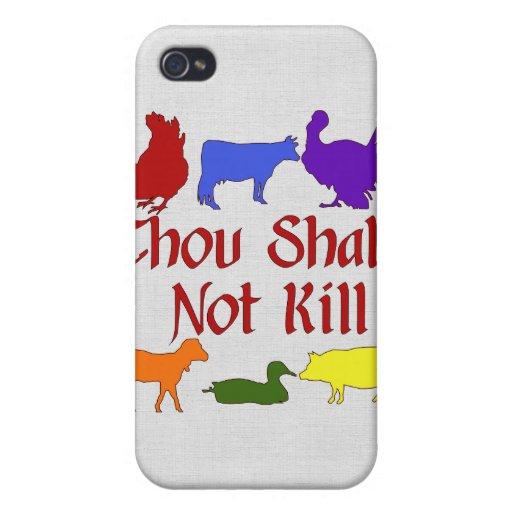 Thou Shalt Not Kill iPhone 4 Cases