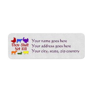 Thou Shalt Not Kill Custom Return Address Labels