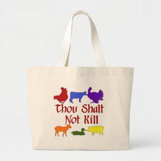 Thou Shalt Not Kill Large Tote Bag