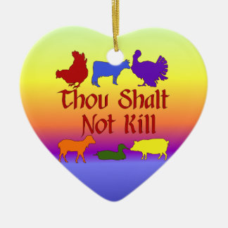 Thou Shalt Not Kill Ornament