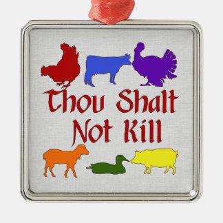 Thou Shalt Not Kill Christmas Tree Ornament