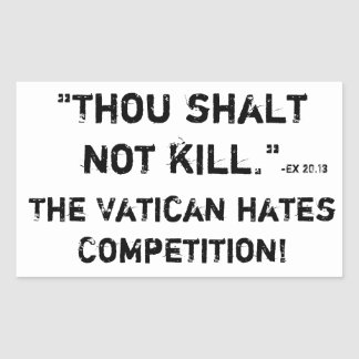 Thou shalt not kill rectangular sticker