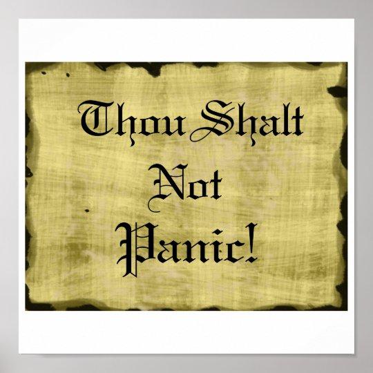 Thou Shalt Not Panic Poster