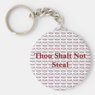 Thou Shalt Not Steal Keychain