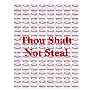 Thou Shalt Not Steal Postcard