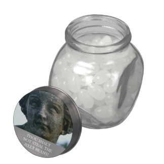 """'THOU SHALT NOT STEAL THE JELLY BEANS!"""" JELLY BELLY CANDY JARS"""