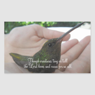 Though Creatures Hummingbird Rectangular Sticker