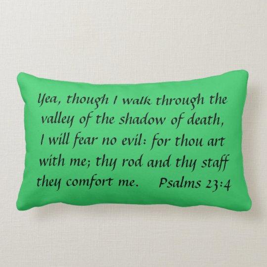Though I walk Lumbar Pillow