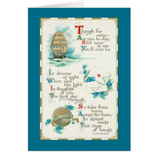 Though in distant lands you are near to me card