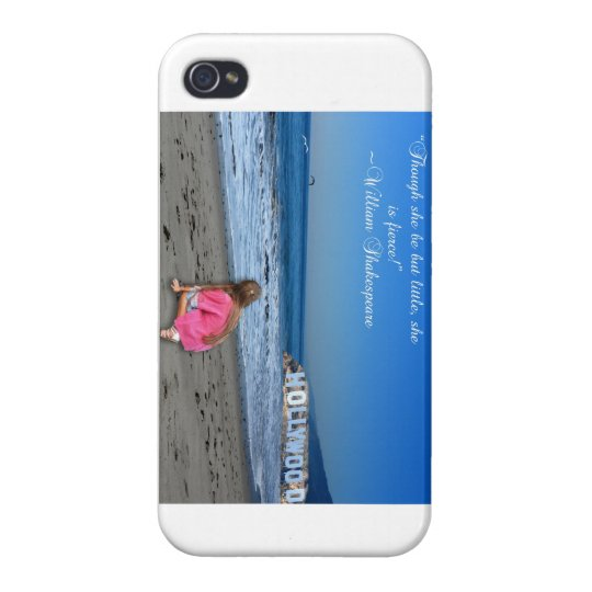 Though she be but little, she is fierce! case for iPhone 4