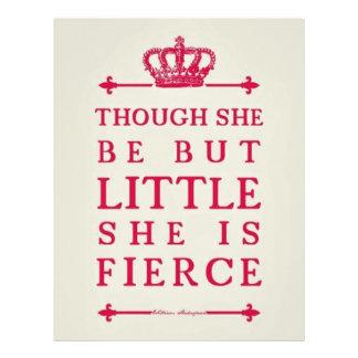 Though she be but little she is fierce letterhead design