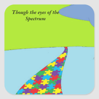 though the eyes of the spectrum square sticker