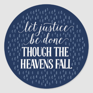 Though the Heavens Fall - Navy Sticker