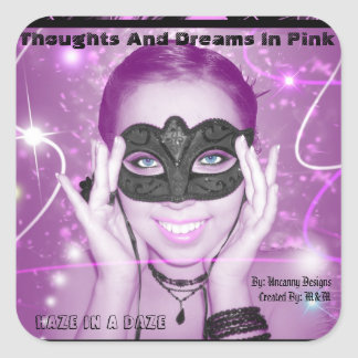 Thoughs And Dreams In Pink Sticker No White