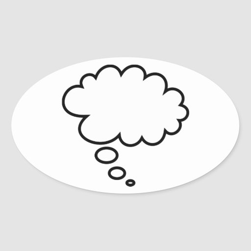 Thought Bubble - add your own text! Sticker