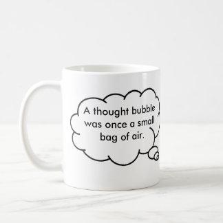 thought bubble bag of air coffee mug - umanpowered