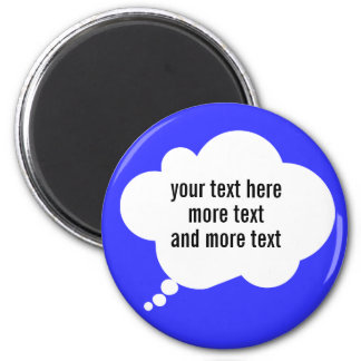 thought bubble ballon custom words magnet