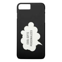 Thought Bubble / Black Background iPhone 8 Plus/7 Plus Case