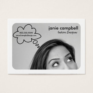 Thought Bubble Chubby Business Cards