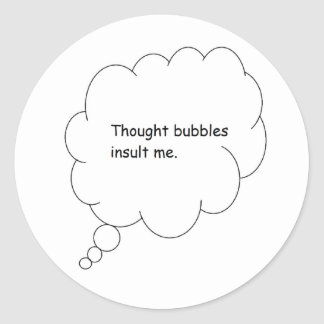 thought bubble classic round sticker