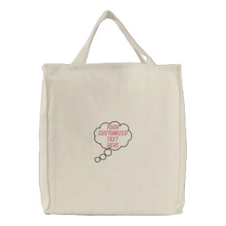 Thought Bubble Embroidered Bag Template