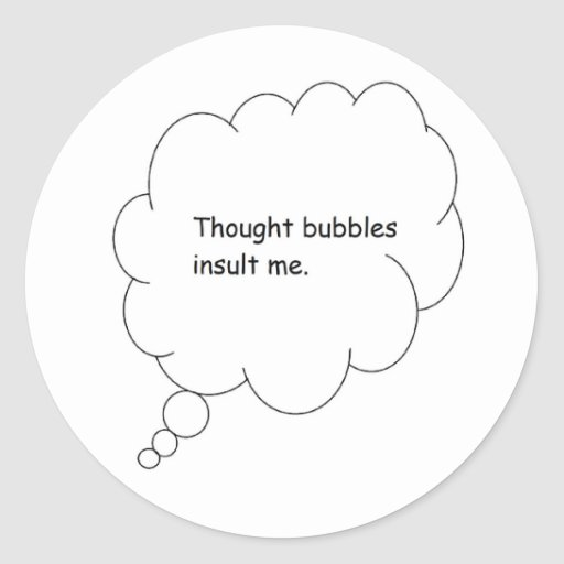 thought bubble stickers