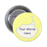 Thought Bubble Template 2 Inch Round Button