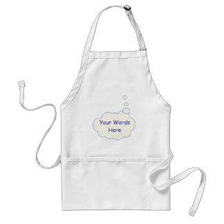 Thought Bubble Template Adult Apron