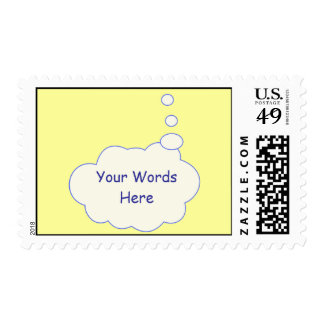 Thought Bubble Template Postage